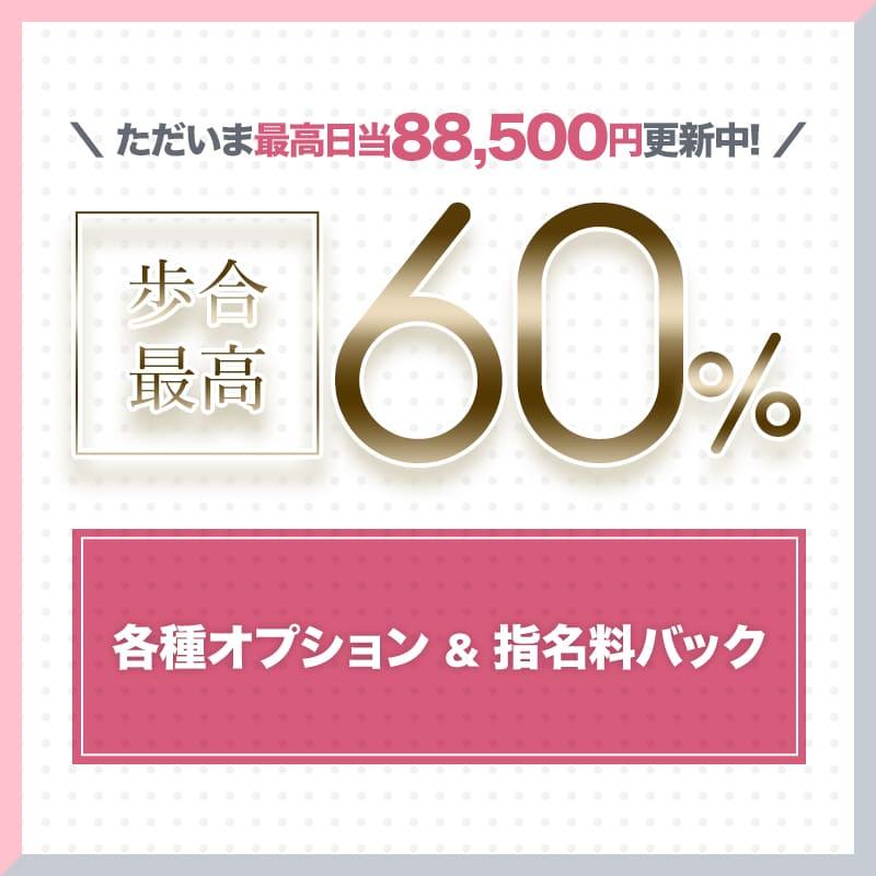歩合最高60%!只今最高日東88,500円更新中!